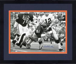 Framed Dick Butkus Chicago Bears Autographed 16'' x 20'' with Terry Bradshaw Photograph