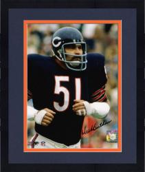"Framed Dick Butkus Chicago Bears Autographed 8"" x 10"" Action Photograph"