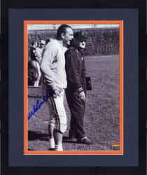 """Framed Dick Butkus Chicago Bears Autographed 8"""" x 10"""" Black and White with George Halas Photograph"""