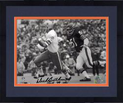 "Framed Dick Butkus Chicago Bears Autographed 8"" x 10"" Chasing Roger Staubach Photograph with HOF 79 Inscription -"
