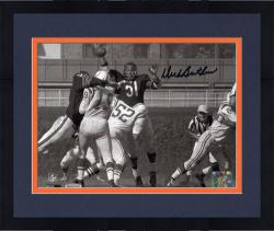 "Framed Dick Butkus Chicago Bears Autographed 8"" x 10"" Horizontal Unitas Swat Black Ink Photograph"