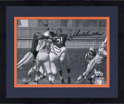 "Framed Dick Butkus Chicago Bears Autographed 8"" x 10"" Horizontal Unitas Swat Blue Ink Photograph"