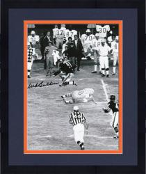 "Framed Dick Butkus Chicago Bears Autographed 8"" x 10"" Jump Black and White Photograph"