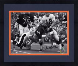 """Framed Dick Butkus Chicago Bears Autographed 8"""" x 10"""" Tackling Terry Bradshaw Photograph"""