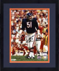 "Framed Dick Butkus Chicago Bears Autographed 8"" x 10"" vs. Kansas City Chiefs Photograph with HOF 79 Inscription"