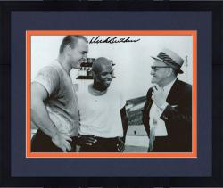 "Framed Dick Butkus Chicago Bears Autographed 8"" x 10"" with George Halas and Gale Sayers Photograph"