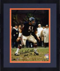 "Framed Dick Butkus Chicago Bears Autographed 8x10 Photograph with ""HOF 79"" Inscription"