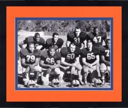 "Framed Dick Butkus Illinois Fighting Illini Autographed 8"" x 10"" Team Picture Photograph"