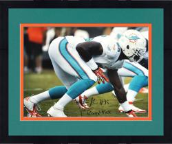 "Framed Dion Jordan Miami Dolphins Autographed 16"" x 20"" Horizontal White Photograph with 1st Round Pick Inscription"