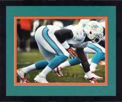 "Framed Dion Jordan Miami Dolphins Autographed 16"" x 20"" Horizontal White Squat Photograph"