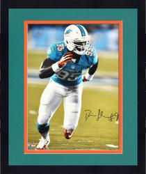 "Framed Dion Jordan Miami Dolphins Autographed 16"" x 20"" Vertical Green Run Photograph"