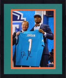 "Framed Dion Jordan Miami Dolphins Autographed 8"" x 10"" NFL Draft Photograph"