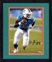 "Framed Dion Jordan Miami Dolphins Autographed 8"" x 10"" Vertical Running Photograph"