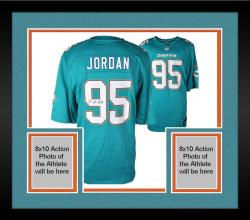 Framed Dion Jordan Miami Dolphins Autographed Nike Game Replica Aqua Jersey