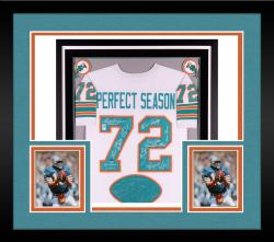 1972 Miami Dolphins Autographed Jersey - Deluxe Framed