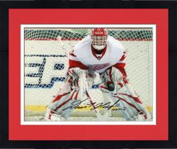 "Framed Dominik Hasek Detroit Red Wings Autographed 8"" x 10"" Photograph with HOF 2014 Inscription"
