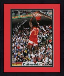 "Framed Dominique Wilkins Atlanta Hawks Autographed 16"" x 20""  Dunk Photograph - Mounted Memories"
