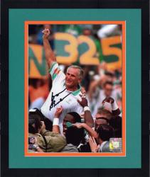 "Framed Don Shula Miami Dolphins Autographed 8"" x 10"" Arm In Air Photograph"
