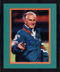 Framed Don Shula Miami Dolphins Autographed 8'' x 10'' Green Jacket Photograph