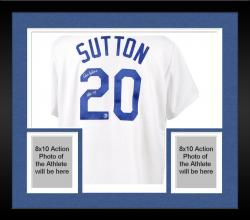 Framed Don Sutton Los Angeles Dodgers Autographed White Jersey with HOF 98 Inscription