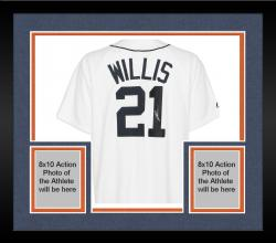 Framed Dontrelle Willis Detroit Tigers Autographed Replica Jersey