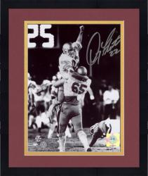 """Framed Doug Flutie Boston College Eagles 1984 Hail Mary Celebration 8"""" x 10"""" Autographed Black and White Photograph"""