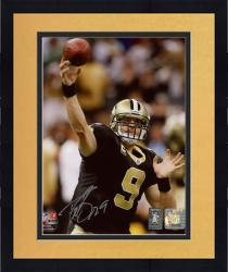 Framed Drew Brees New Orleans Saints Autographed 8'' x 10'' NFC Championship Trophy Photograph