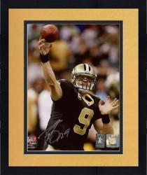 "Framed Drew Brees New Orleans Saints Autographed 8"" x 10"" NFC Championship Trophy Photograph"