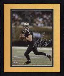 "Framed Drew Brees New Orleans Saints Autographed 8"" x 10"" Scramble Photograph"
