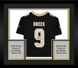 Framed Drew Brees New Orleans Saints Autographed Nike Limited Black Jersey
