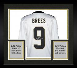Framed Drew Brees New Orleans Saints Autographed Nike Limited Edition White Jersey