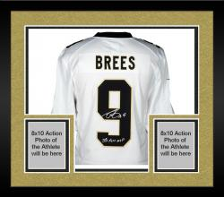 Framed Drew Brees New Orleans Saints Autographed Nike Limited Edition White Jersey with SB XLIV MVP Inscription