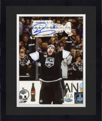 Framed Drew Doughty Los Angeles Kings 2014 Stanley Cup Champions Autographed 8'' x 10'' Raising Stanley Cup Photograph