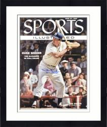 "Framed Duke Snider Brooklyn Dodgers Sports Illustrated Cover Autographed 16"" x 20"" Photograph with 1955 WS Champs Inscription"