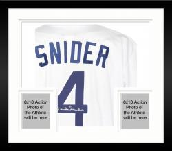 Framed Duke Snider Los Angeles Dodgers Autographed White Custom Jersey