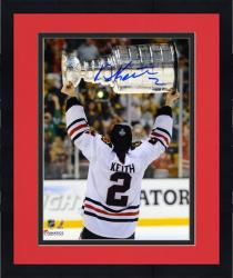 """Framed Duncan Keith Chicago Blackhawks 2013 NHL Stanley Cup Final Champions 8"""" x 10"""" Autographed Back Photograph"""