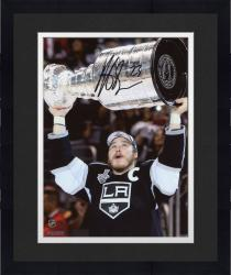 Framed Dustin Brown Los Angeles Kings 2014 Stanley Cup Champions Autographed 8'' x 10'' Raising Cup Photograph