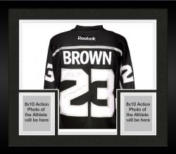 Framed Dustin Brown Los Angeles Kings 2014 Stanley Cup Champions Autographed Reebok Black Jersey with SC Champs 2012/2014 Inscription