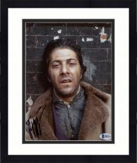 "Framed Dustin Hoffman Autographed 8"" x 10"" Midnight Cowboy Upset Leaning Against Wall Photograph - Beckett COA"