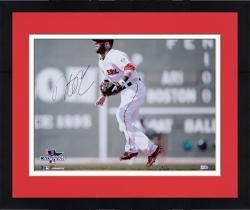 "Framed Dustin Pedroia Boston Red Sox 2013 World Series Champions Autographed 16"" x 20"" Green Monster Photograph"