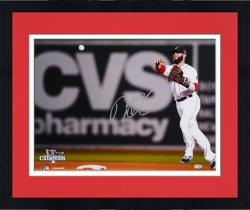 "Framed Dustin Pedroia Boston Red Sox 2013 World Series Champions Autographed 16"" x 20"" Throwing Photograph"