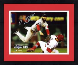 "Framed Dustin Pedroia Boston Red Sox 2013 World Series Champions Autographed 8"" x 10"" Double Play Photograph"