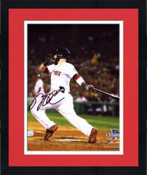 "Framed Dustin Pedroia Boston Red Sox 2013 World Series Champions Autographed 8"" x 10"" Follow Through Photograph"