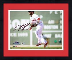 "Framed Dustin Pedroia Boston Red Sox 2013 World Series Champions Autographed 8"" x 10"" Green Monster Photograph"