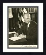 Framed Dwight D Eisenhower Signed 8x10 Photo Beckett COA