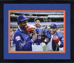 "Framed Dwight Gooden, Darryl Strawberry & Mike Tyson New York Mets Autographed 16"" x 20"" Photograph"