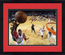 "Framed Dwight Howard Houston Rockets Autographed 8"" x 10"" Horizontal Layup Photograph"