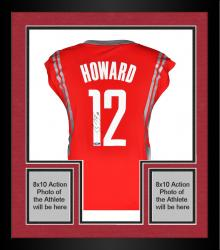 Framed Dwight Howard Houston Rockets Autographed adidas Red Replica Jersey