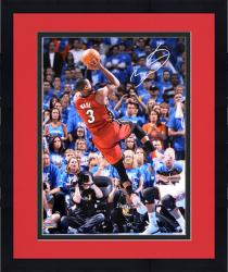"Framed Dwyane Wade Miami Heat 2012 Finals Autographed 16"" x 20"" Falling Jump Shot Photograph"