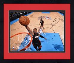 "Framed Dwyane Wade Miami Heat 2012 Finals Autographed 16"" x 20"" Horizontal Dunk Photograph"